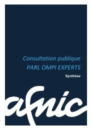Synthèse de la consultation publique PARL OMPI EXPERTS - Afnic