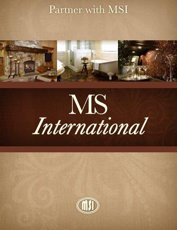 MSI Brochure - Natural Stone