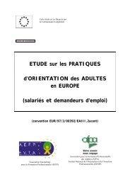 orientation des adultes en Europe - EVTA