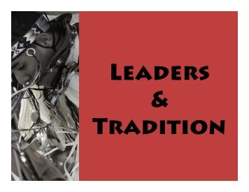Leaders and Tradition PowerPoint.