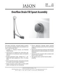 Overflow Drain Fill Spout Assembly - Jason International