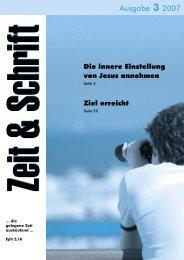 Heft 3/2007 - Zeit & Schrift