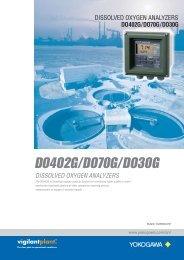 DO402G/DO70G/DO30G Dissolved Oxygen Analyzers - Yokogawa
