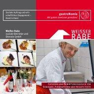 gastroNomia Flyer für Kunden 384 kb - Weisser Rabe
