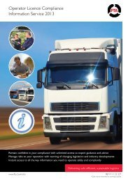 OLCIS membership 2013 - Freight Transport Association