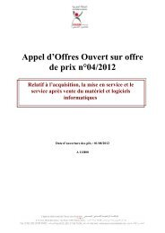 Appel d'Offres Ouvert sur offre de prix n°04/2012 - Agence Nationale ...