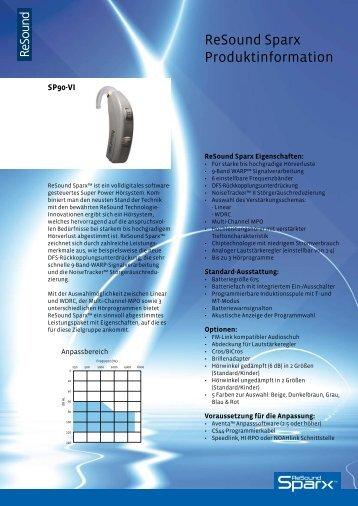 Sparx dispenser brochure - GN ReSound GmbH