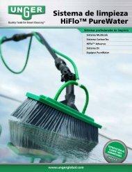 Sistema de limpieza HiFlo™ PureWater - Unger