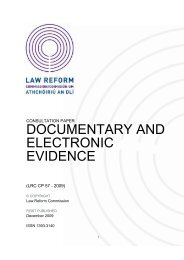 Documentary and Electronic Evidence - Law Reform Commission