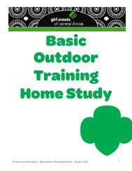 1 Girl Scouts of Central Illinois – Basic Outdoor Training Home Study ...