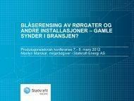 blåserensing av rørgater og andre installasjoner - Energi Norge