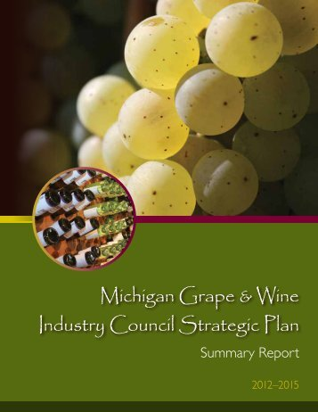 Strategic Plan 2012-2015 Summary Report - Michigan Wines