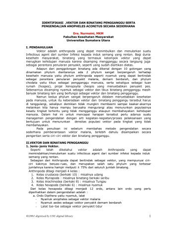 IDENTIFIKASI VEKTOR - USU Library - Universitas Sumatera Utara