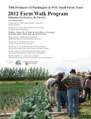 2012 Farm Walk Program Education For Farmers ... - Tilth Producers