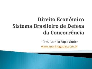Sistema Brasileiro de Defesa da Concorrência - Prof. Murillo Sapia ...