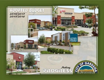Budget Message - the City of Gardena