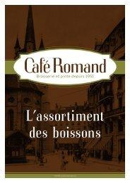 TVA 8% incluse dans les prix TVA 8% incluse dans ... - Café Romand