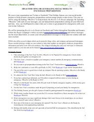 ideas for using or leveraging social media to - Ready.gov
