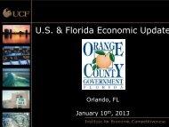 U.S. & Florida Economic Update - OrangeCountyFl.net