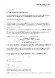 einladung / anmeldung - vorwärts|buch