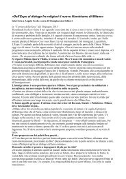 «Dall'Expo al dialogo fra religioni il nuovo illuminismo di Milano»