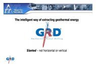 Geothermal energy Drilling chamber - Tracto-Technik