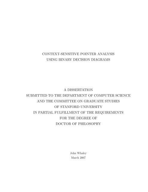 Dissertation stanford university