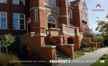 Presidents Annual Report_True_08_2.indd - Westminster College