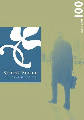 Kritisk Forum nr. 100 - Anis