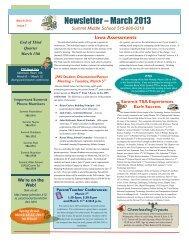 Newsletter – March 2013 - Johnston Community School District