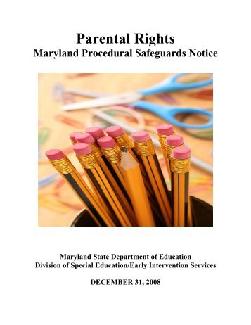 Parental Rights - Washington County, MD Public Schools