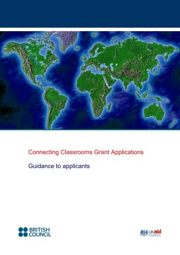 Connecting Classrooms Grant Applications Guidance to applicants