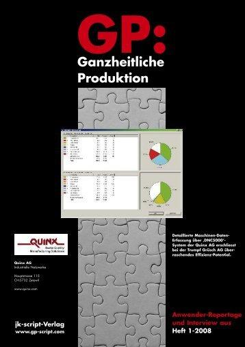 GP: Ganzheitliche Produktion - Quinx AG