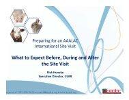Preparing for AAALAC Site Visit - Drexel University College of ...