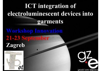 ICT integration of electroluminescent devices into ... - Project T-Pot