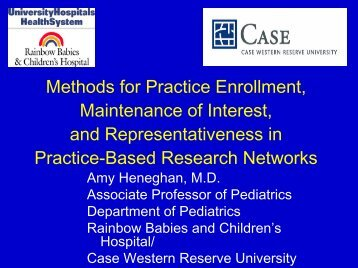 Methods for Practice Enrollment, Maintenance of ... - Blog@Case