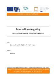 Externality energetiky - Centrum pro rozvoj výzkumu pokročilých ...