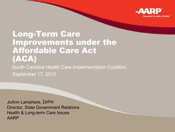 Long-Term Care Improvements under the Affordable Care Act (ACA)