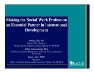 Making the Social Work Profession an Essential Partner in ...