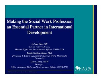 a study of the profession of a social worker