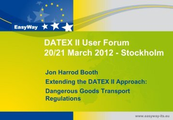 Dangerous Goods Transport Regulations - datex2