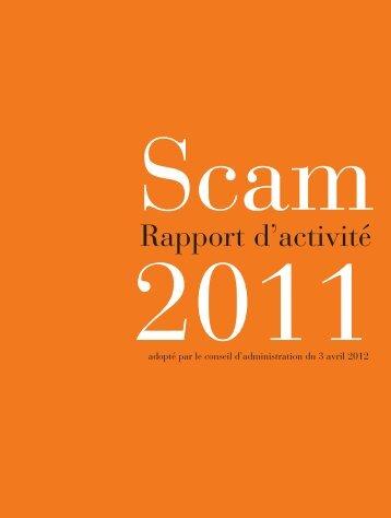 rapport 2011 présenté à l'AGO du 20 juin 2012 - Scam
