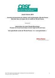 Journée de lancement du réseau rural et périurbain d'Ile-de-France