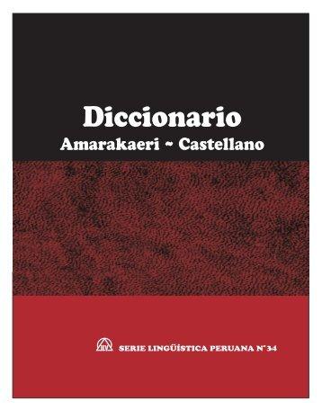 Diccionario Amarakaeri ~ Castellano