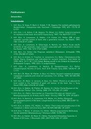 Publikationen - Tumororthopaedie