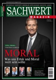 Sachwert Magazin - Nr. 2/2012 - Karl Pilsl