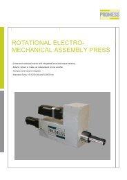 rotational electro- mechanical assembly press - Promess ...