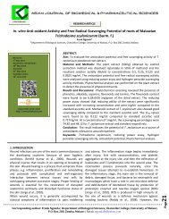 vitro Anti-oxidant Activity and Free Radical Scavenging Potential of ...