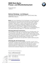 Sicherer Schulweg - BMW Werk Berlin
