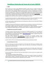 Conditions Générales de Vente de la Carte JUBILEO - total raffinage ...